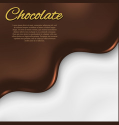 liquid chocolate background vector image