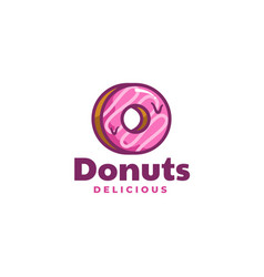 logo donuts simple mascot style vector image