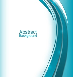 Modern Wavy Blue Brochure vector image