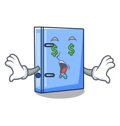 Money eye office binder file isolated on cartoon vector