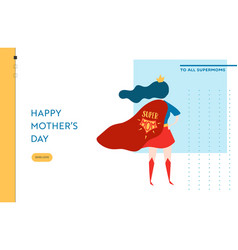 mothers day sale banner with superhero mother vector image
