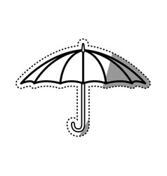 Open umbrella object vector