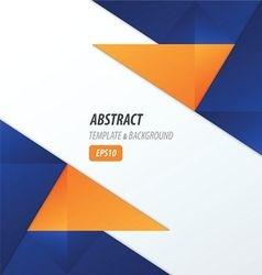 Polygons design template 2 color blue orange vector