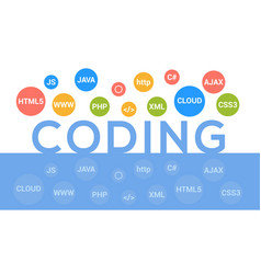 programmer flat design graphic vector image