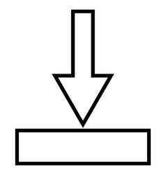 Push Down Stroke Icon vector