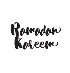 Ramadan kareem text design vector