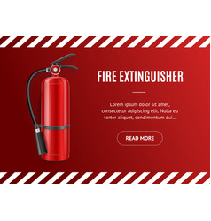realistic detailed 3d fire extinguisher concept vector image