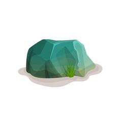 Rock stone boulder design element of natural vector
