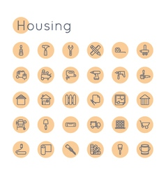 Round Housing Icons vector image