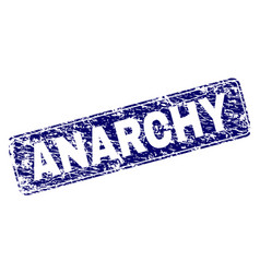 Scratched anarchy framed rounded rectangle stamp vector