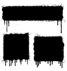 set of graffiti spray painted lines and grunge vector image