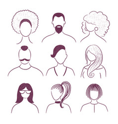 set profile pictures faceless avatars vector image
