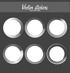 Set vintage ink painted labels for greetings vector