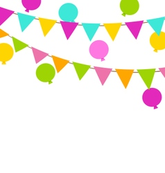 Simple Multicoloredl Buntings Flags and Balloons vector image