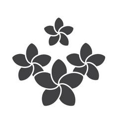 spa salon plumeria flowers glyph icon vector image