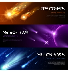 Space Horizontal Banners vector