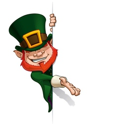 St Patrick Presenting a Banner vector image