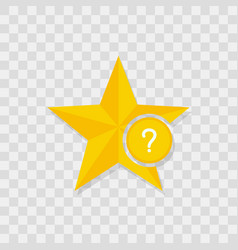 star icon question icon vector image