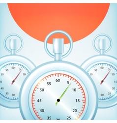 Stopwatches Designed vector