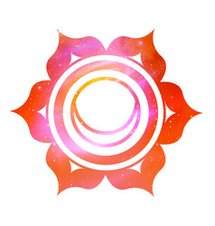 Svadhisthana chakra with outer space vector