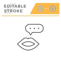 talk editable stroke line icon vector image