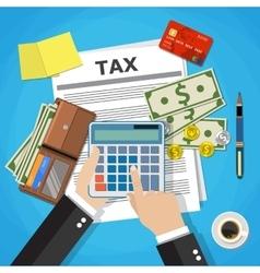 Tax payment design vector