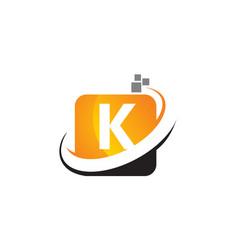 Technology motion synergy letter k vector