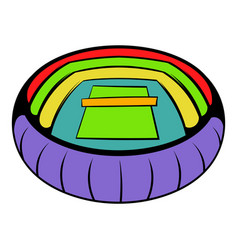 Tennis stadium icon icon cartoon vector