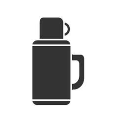 Thermos glyph icon vector