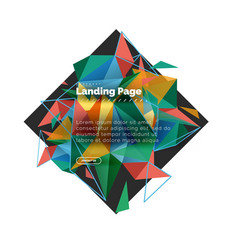 triangular design abstract background landing vector image