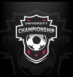 University championship soccer logo vector