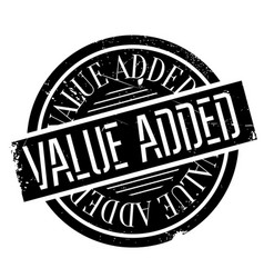 value added rubber stamp vector image