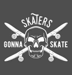 vintage badges with skateboard vector image