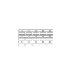 Wall brick flat icon vector