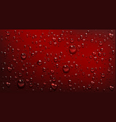 water droplets on red background vector image