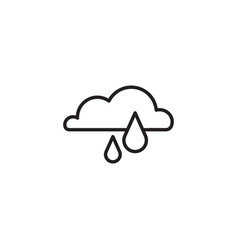 web icon rain cloud black on white background vector image