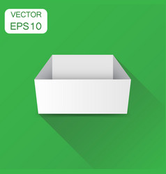 white cardboard package box business concept box vector image