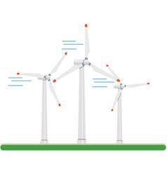 Wind energy power turbine icon isolated vector