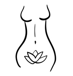 Woman health line silhouette icon body vector