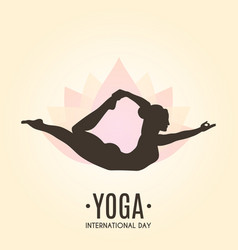 Yoga colorful fitness concept vector
