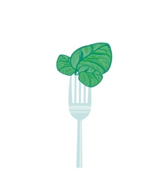 concept vegetarian with forks vector image