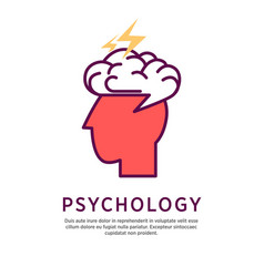 psychology concept profile vector image