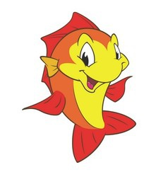 Red Yellow Fish vector image