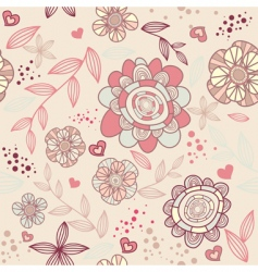 romantic wallpaper vector image vector image