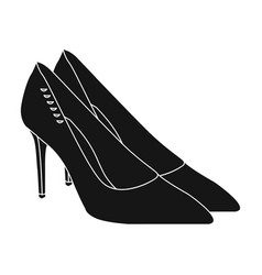 women s leather shoes with heels casual shoes for vector image vector image