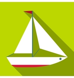 Yacht icon flat style vector image