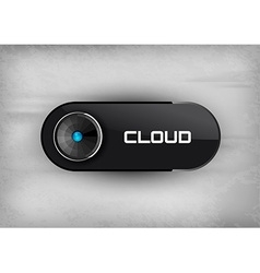 Cloud Button vector image vector image