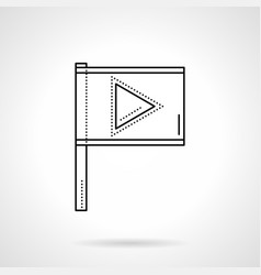 Mark for important videos flat line icon vector