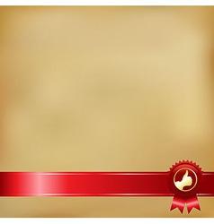 Old Paper And Gold Award Ribbons vector image vector image