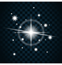 Shine star sparkle icon vector image vector image